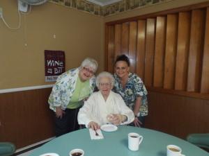 My mother Joyce, my great aunt Hilda and one of Hilda's nurses.