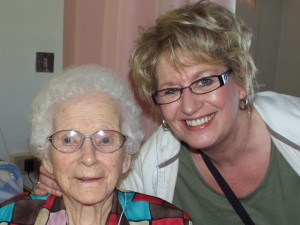 Great Aunt Hilda and Me.