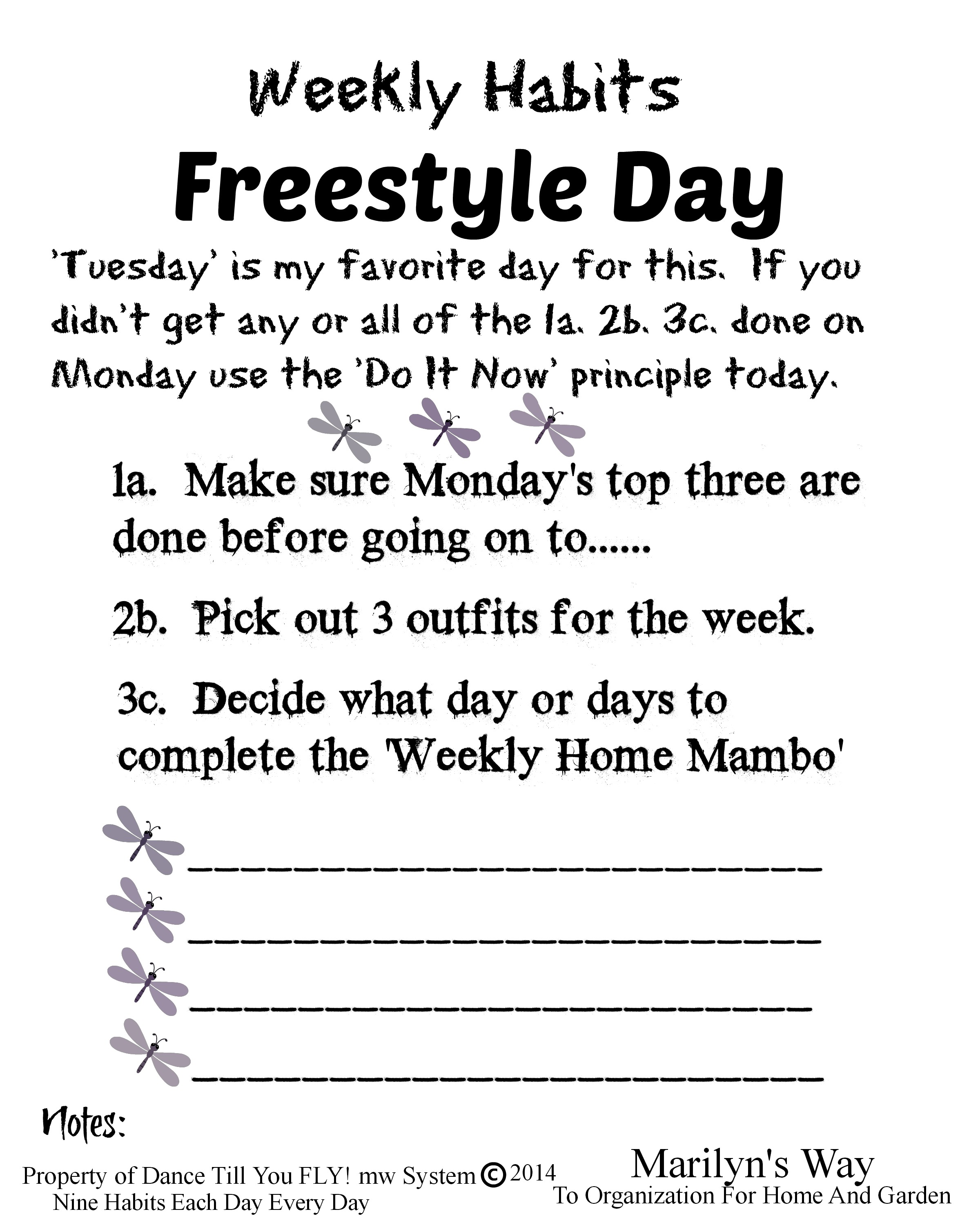 Freestyle Day Weekly Habits Form