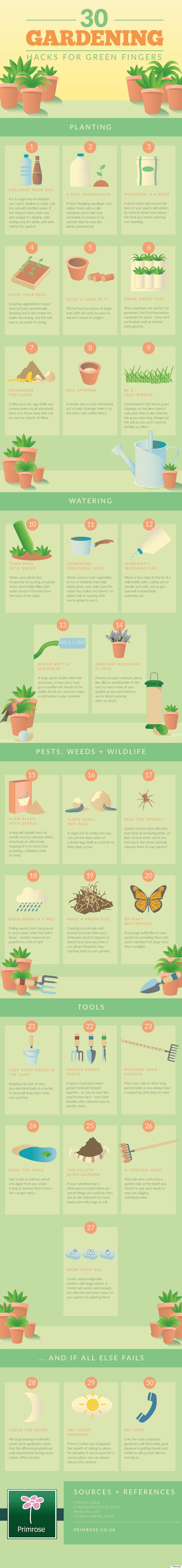 30 DIY Gardening Hacks