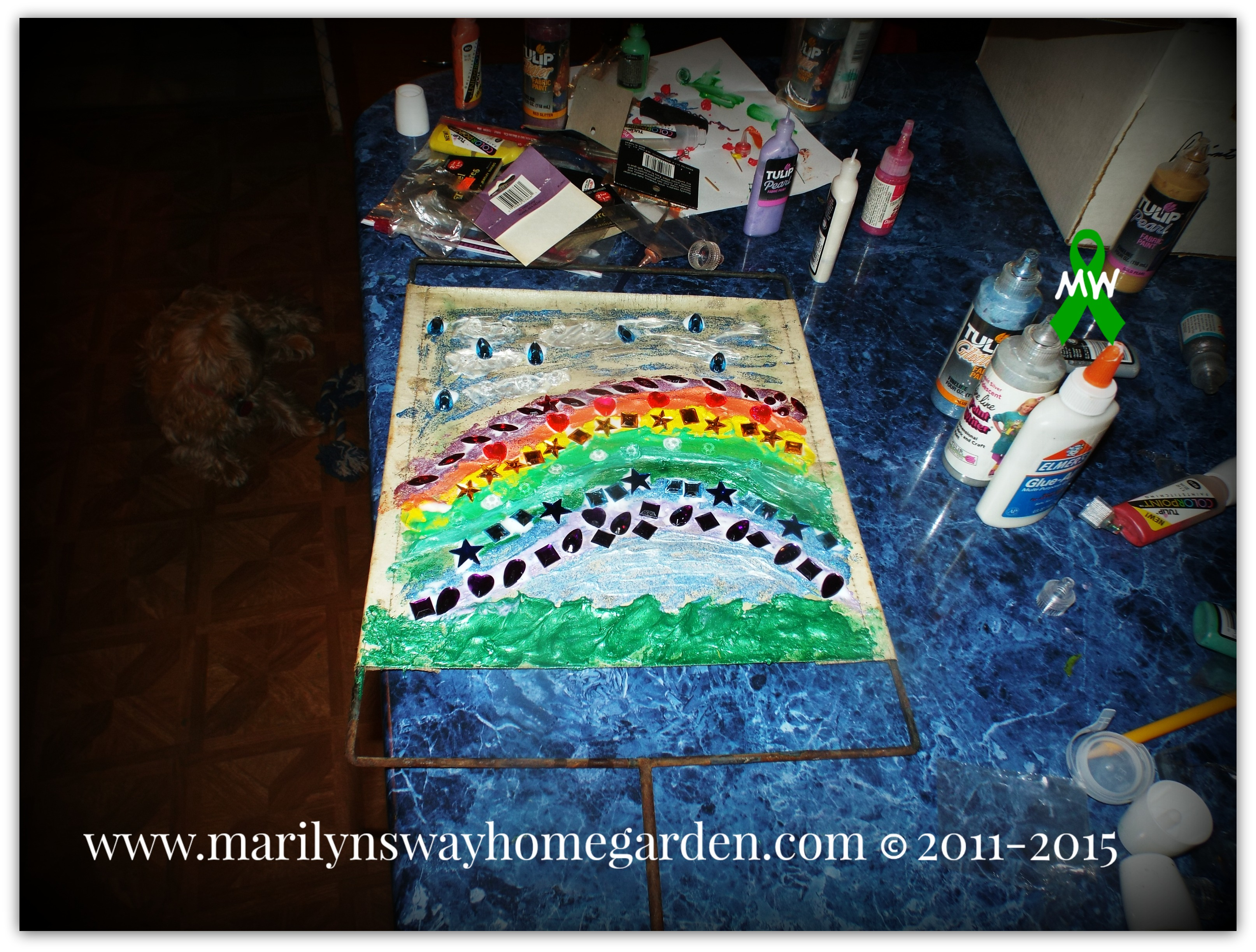 Finished Rainbow Bridge Sign.