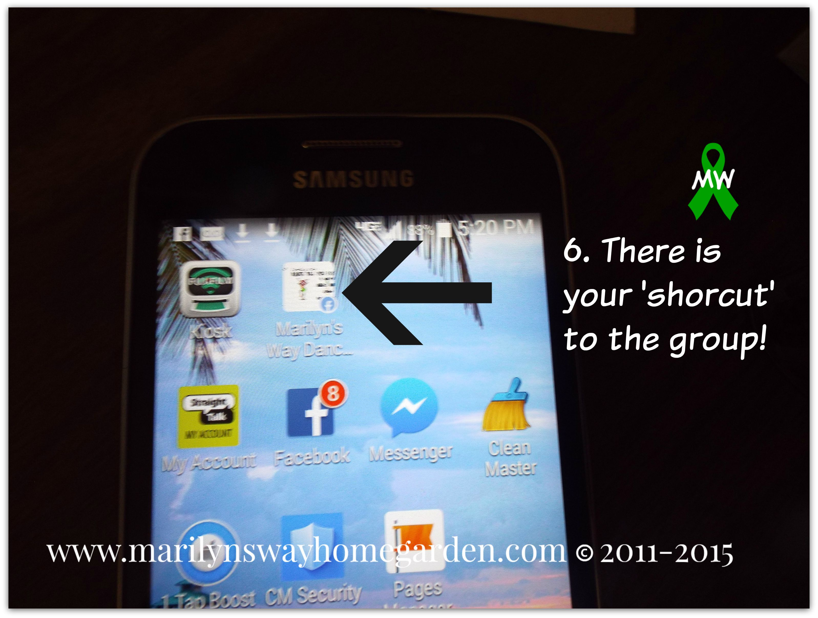shortcut on phone 006mw